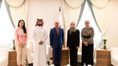 "Photo of استقبال فوزية زينل للمسئولين عن هيئة صندوق "" تمكين """