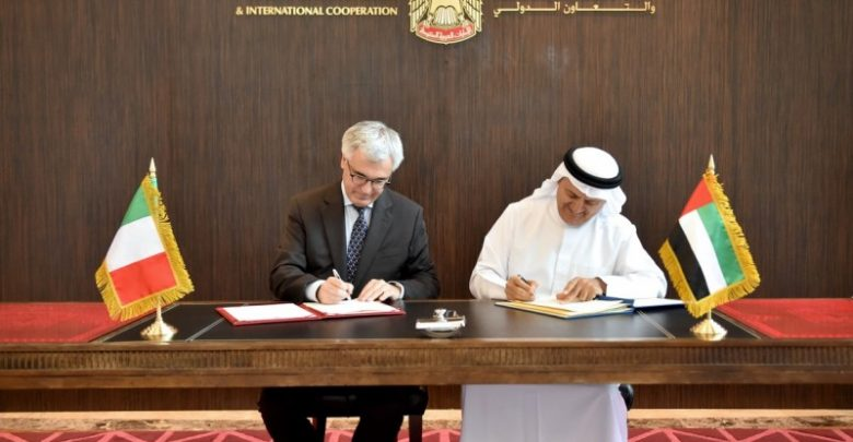 تعزيز التعاون بين الإمارات و إيطاليا