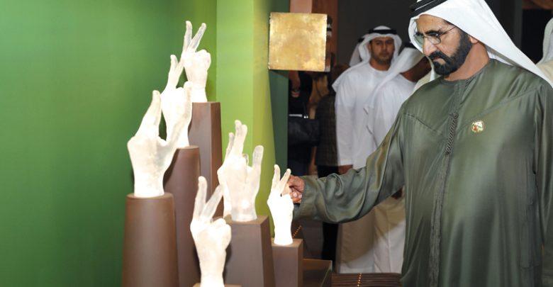 زيارة محمد بن راشد لمعرض آرت دبي بجميرا
