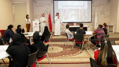 Photo of كلية البحرين التقنية تدرب 30 طالبًا على فن رسم المنظور الهندسي