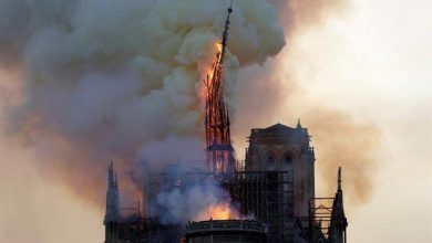Photo of حريق كاتدرائية نوتردام بباريس و انهيار برجها التاريخي