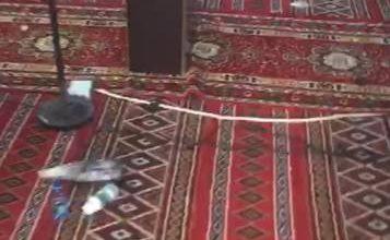 تخريب مسجد بالسعودية