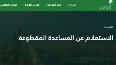 Photo of الاستعلام عن المساعدة المقطوعة 1441 هـ .. موقع وزارة العمل