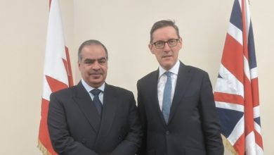 Photo of سفير البحرين في المملكة المتحدة يؤكد على العلاقات الطيبة