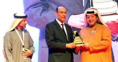 "Photo of تكريم الفنان أحمد بدير خلال الفعاليات النهائية لـ "" مهرجان العين السينمائي "" بالإمارات"