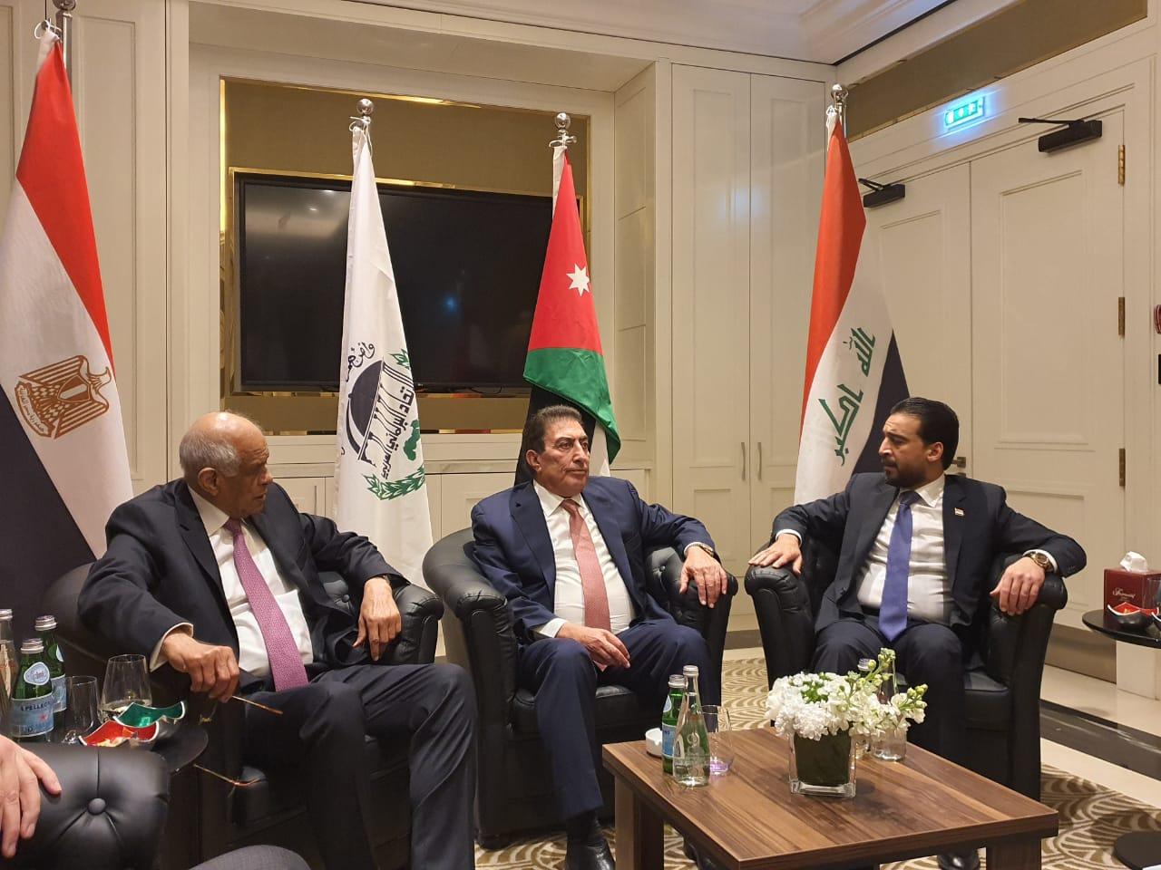 رؤساء برلمان مصر والأردن والعراق