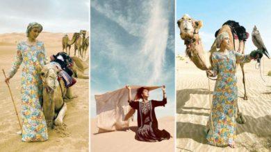 Photo of شاهد بالصور يابانية تعبر صحراء الربع الخالي خلال 26 يومًا وتعيش في منازل العائلات السعودية