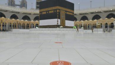 Photo of شؤون الحرمين تنتهي من وضع الملصقات بصحن الطواف والممرات لاستقبال الحجاج